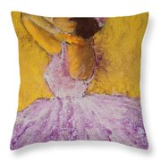 The Ballet Dancer Throw Pillow by David Patterson