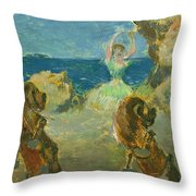 The Ballet Dancer Throw Pillow