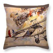 The Balloon Buster Throw Pillow