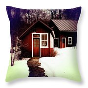 The Bally House Greenhouse Throw Pillow