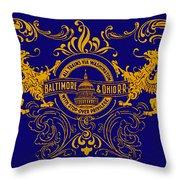 The Baltimore And Ohio Railroad Throw Pillow