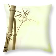 The Bamboo Branch Throw Pillow