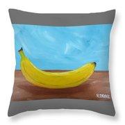The Banana Throw Pillow