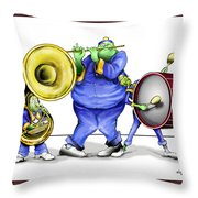 The Band Plays On Throw Pillow