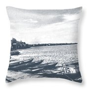 The Bank Of Ganges Throw Pillow