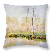 The Banks Of The River Epte At Giverny Throw Pillow