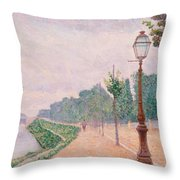 The Banks Of The Seine At Neuilly 1886 Throw Pillow