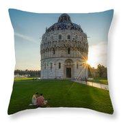 The Baptistery, Piazza Dei Miracoli Throw Pillow