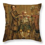 The Barber Throw Pillow