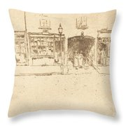 The Barber's Throw Pillow