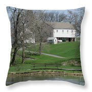 The Barn Along The Tulpehocken Throw Pillow