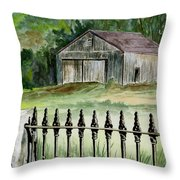 The Barn At Parsonsfield Maine Throw Pillow