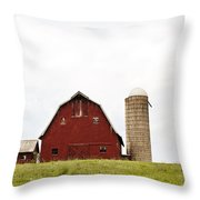 The Barn - Color Throw Pillow