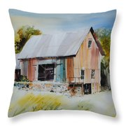 The Barn Entrance  Throw Pillow
