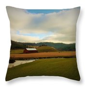 The Barn On Green Acres Throw Pillow