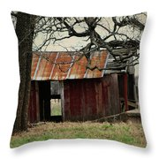 The Barn Out Back Throw Pillow