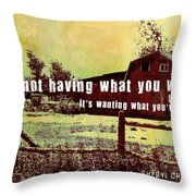 The Barn Quote Throw Pillow