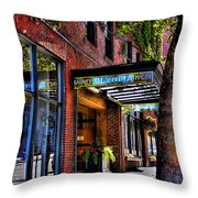 The Barney Mccoy Cafe Throw Pillow