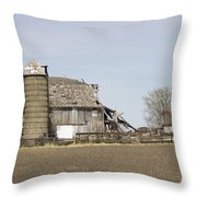 The Barn's Last Season Throw Pillow
