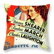 The Barretts Of Wimpole Street Throw Pillow