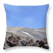 The Base Of Mt St Helens  Throw Pillow