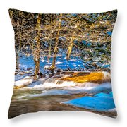 The Basin At Franconia Notch Throw Pillow