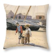 The Basket Of Clams Throw Pillow