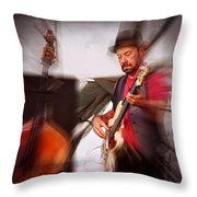 The Bass Player Throw Pillow