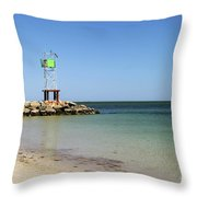 The Bass River Jetty South Yarmouth Cape Cod Massachusetts Throw Pillow