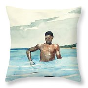 The Bather, 1899 Throw Pillow