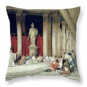 The Baths Of Caracalla Throw Pillow