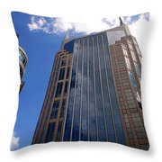 The Batman Building Nashville Tn Throw Pillow