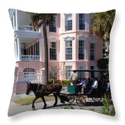 The Battery In Charleston Throw Pillow