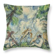 The Battle Of Love Throw Pillow