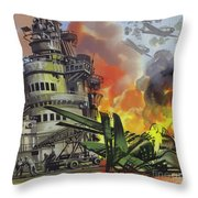 The Battle Of Midway Throw Pillow