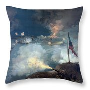 The Battle Of Port Hudson - Civil War Throw Pillow