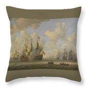 The Battle Of Scheveningen Throw Pillow