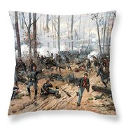 The Battle Of Shiloh Throw Pillow