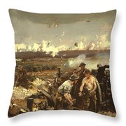 The Battle Of Vilmy Ridge Throw Pillow