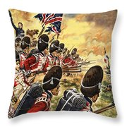The Battle Of Waterloo Throw Pillow