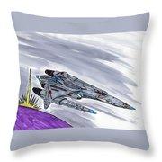 The Battlecruiser Warspite Throw Pillow