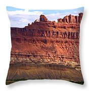 The Battleship Utah Throw Pillow