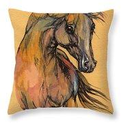 The Bay Arabian Horse 9 Throw Pillow