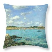 The Bay Of Douarnenez Throw Pillow