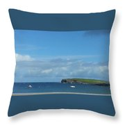 The Bay Of Kilkee On A Summer's, West Of Ireland Throw Pillow