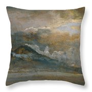The Bay Of Naples With Vesuvius Throw Pillow