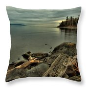 The Bay Of Thunder Throw Pillow