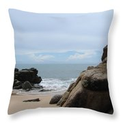 The Beach 2 Throw Pillow