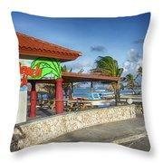 The Beach - Arashi Beach - Aruba - West Indies Throw Pillow