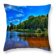 The Beach At Singing Waters Campground Throw Pillow
